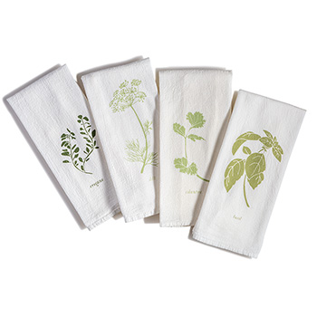 Flour Sack Napkins-Garden Flavors (set of 4)