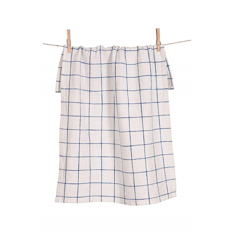 Windowpane Kitchen Towel-Blue