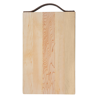 Maple Rectangle Board with Leather Handle - KLTN-1409