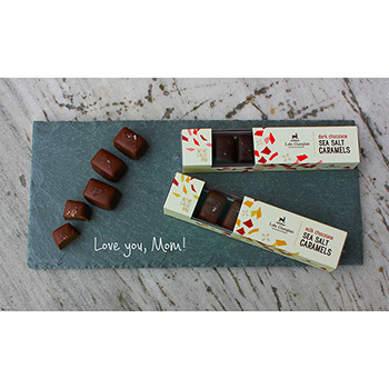 Chocolate Sea Salt Caramels & Slate Gift Set
