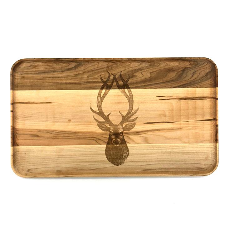 Large Maple Appetizer Plate-Buck