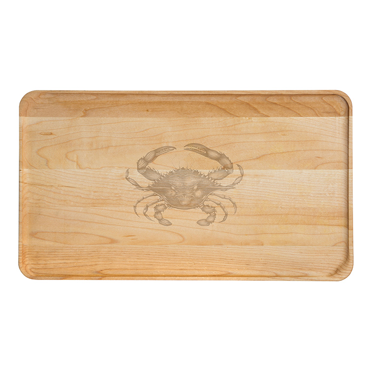 Large Maple Appetizer Plate-Crab