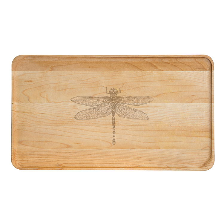 Large Maple Appetizer Plate-Dragonfly