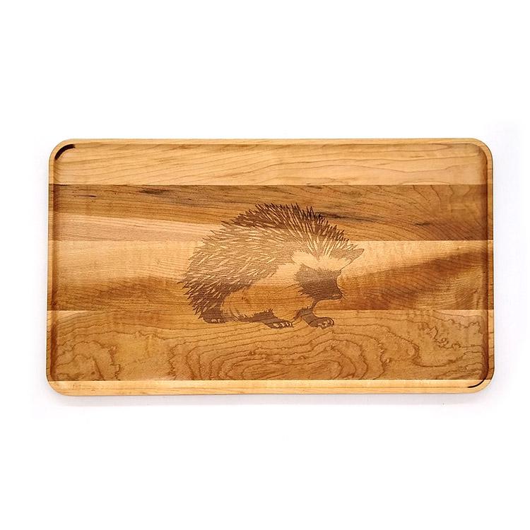 Large Maple Appetizer Plate-Hedgehog
