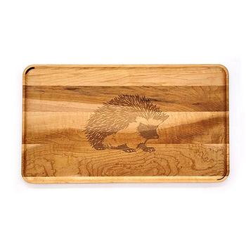 Large Maple Appetizer Plate-Hedgehog - APT-1408-M-HEDG