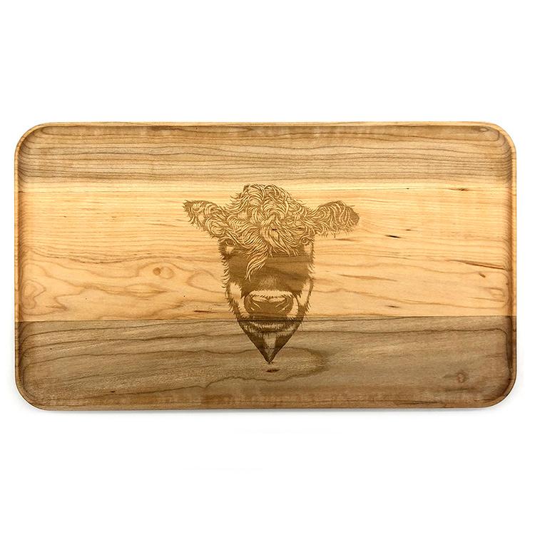 Large Maple Appetizer Plate-Heifer