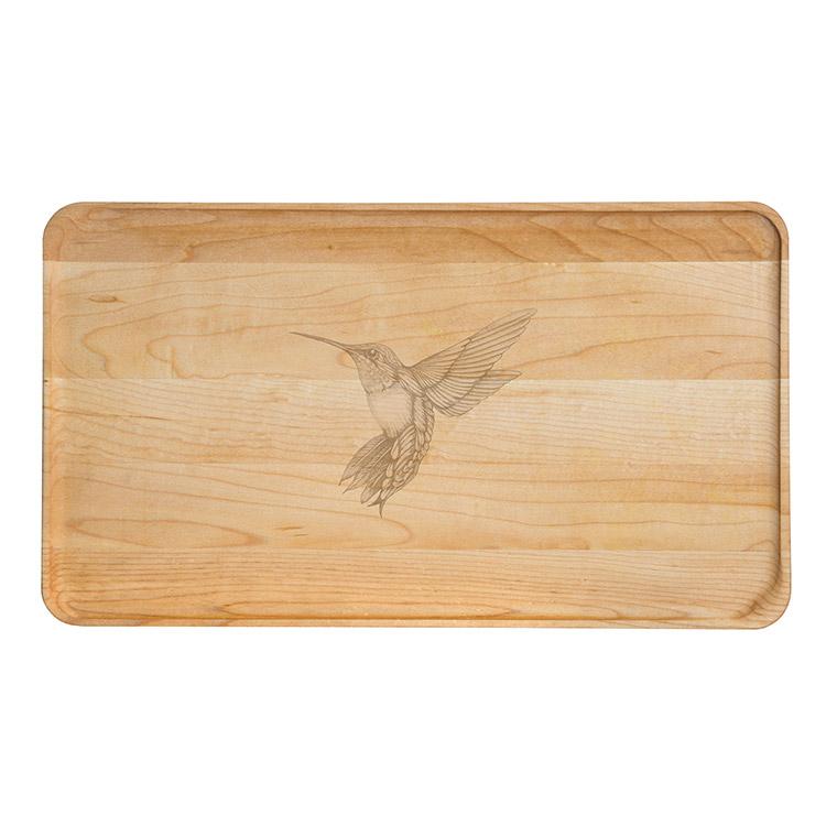 Large Maple Appetizer Plate-Hummingbird