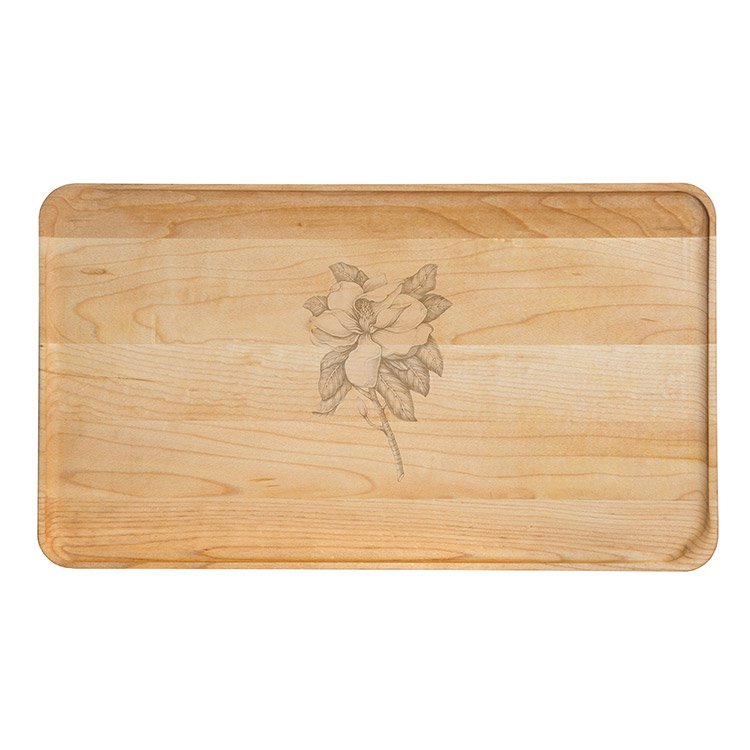 Large Maple Appetizer Plate-Magnolia
