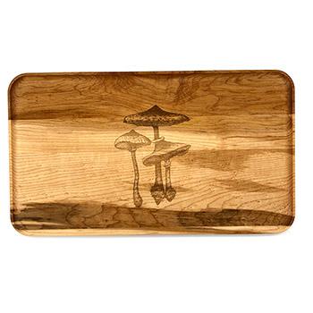 Large Maple Appetizer Plate-Mushroom - APT-1408-M-MUSH-1
