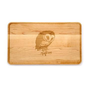 Large Maple Appetizer Plate-Barn Owl - APT-1408-M-OWL-1
