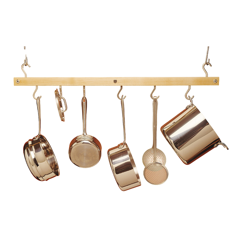 Maple Hanging Bar Pot Rack