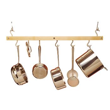 Maple Hanging Bar Pot Rack - PR-NATURAL