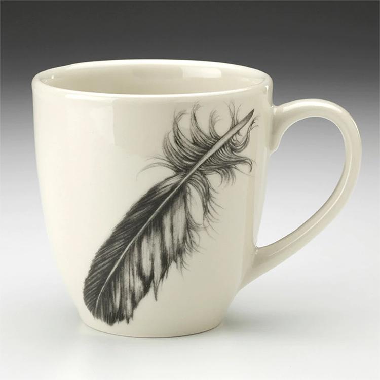 Laura Zindel Mug-Quail Feather