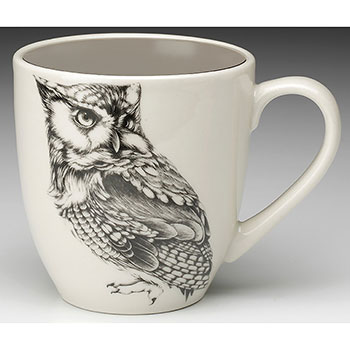 Laura Zindel Mug-Screech Owl