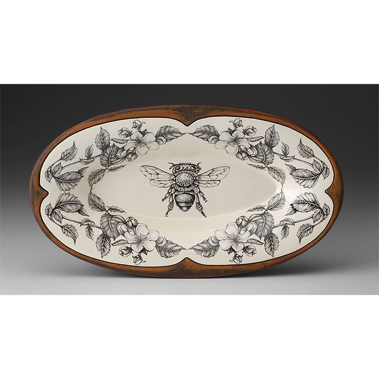 Laura Zindel Oblong Serving Dish, Honey Bee