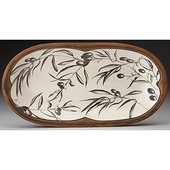 Laura Zindel Rectangle Serving Dish, Olive