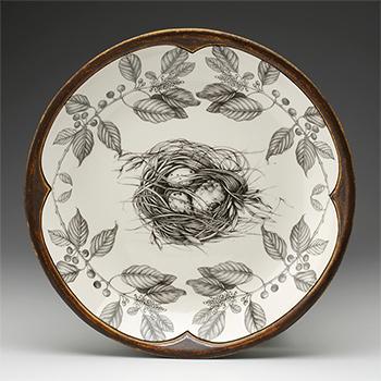 Laura Zindel Round Platter-Quail's Nest