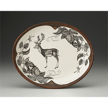 Laura Zindel Small Serving Dish-Fallow Buck