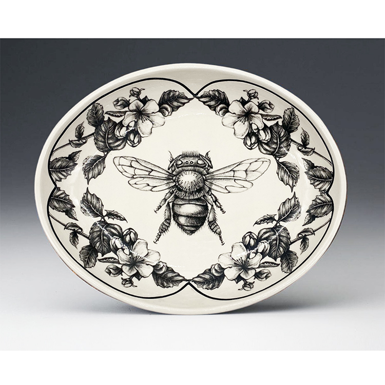 Laura Zindel Small Serving Dish, Honey Bee