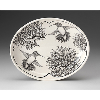 Laura Zindel Small Serving Dish-Hummingbird #1