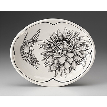 Laura Zindel Small Serving Dish-Hummingbird #3
