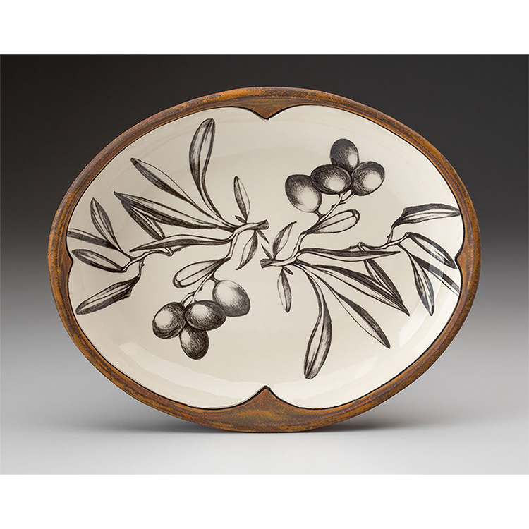 Laura Zindel Small Serving Dish, Olive