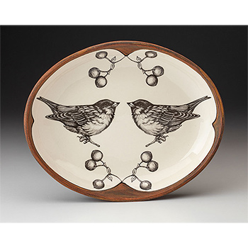 Laura Zindel Small Serving Dish, Tree Sparrow