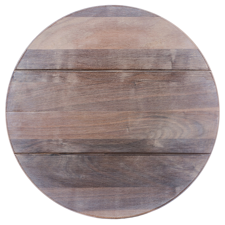 Whitewash Rustic Walnut Lazy Susan