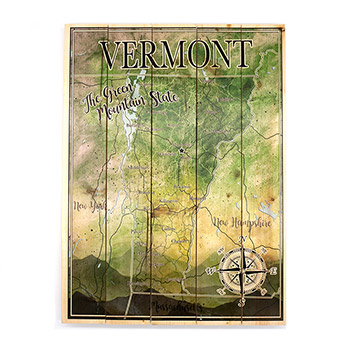 Wooden Pallet Map-Vermont State - MMOM-005-VERMONT