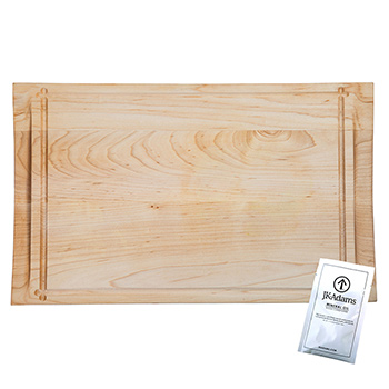 Maple Rectangle Reversible Butterfly Carving Board
