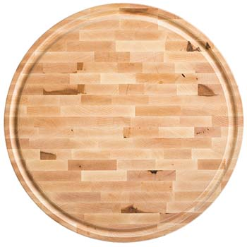 Maple End Grain Round Butcher Block Board