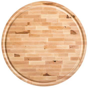 Maple End Grain Round Butcher Block Board