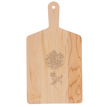 Maple Handle Cheese Board-Dahlia