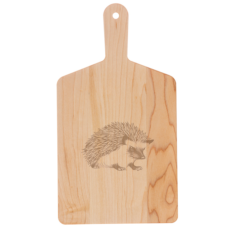 Maple Handle Cheese Board-Hedgehog