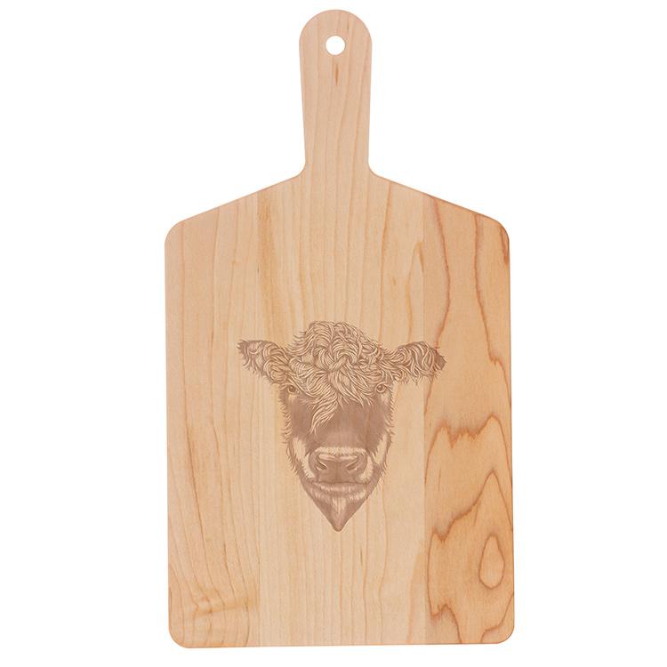 Maple Handle Cheese Board-Heifer