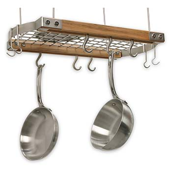 Maple Hanging Oval Pot Rack