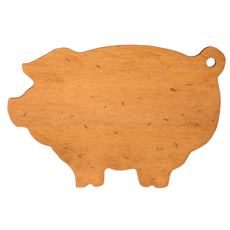 Maple pig shaped board serving boards and bowls j k adams