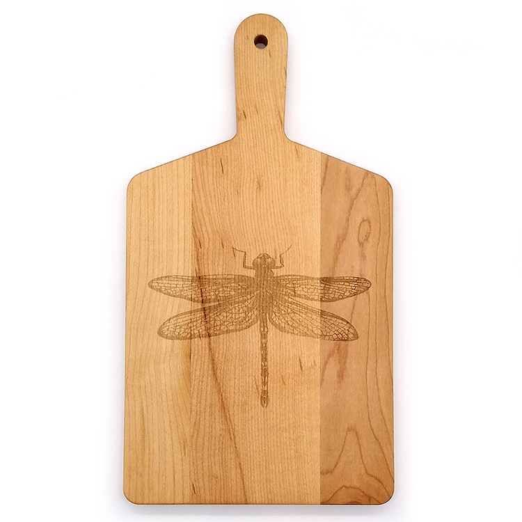Maple Handle Cheese Board-Dragonfly