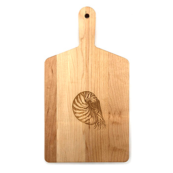Maple Handle Cheese Board-Nautilus