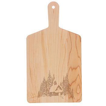 Maple Handle Cheese Board-Cabin - MCB-RECT-M-CABIN