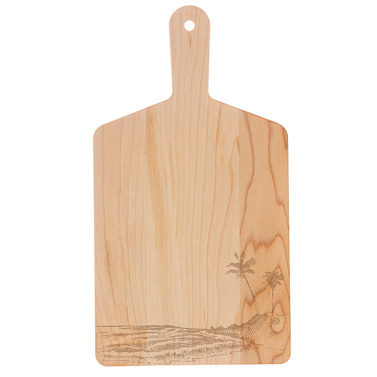 Maple Handle Cheese Board-Palm Trees