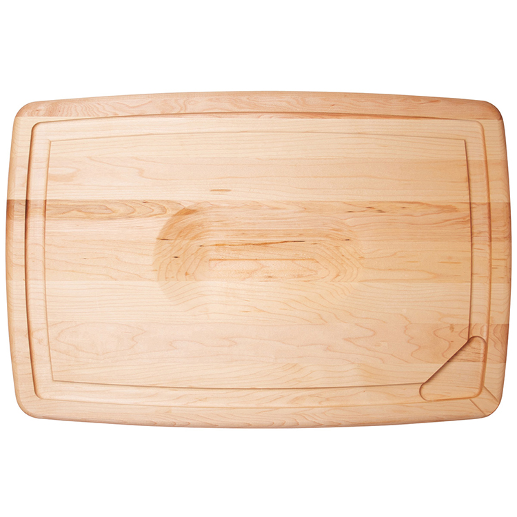 Maple reversible pour spout carving board boards