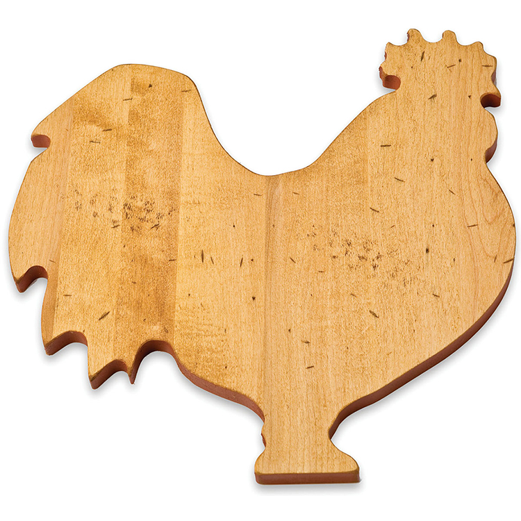 Maple Rooster Shaped Board
