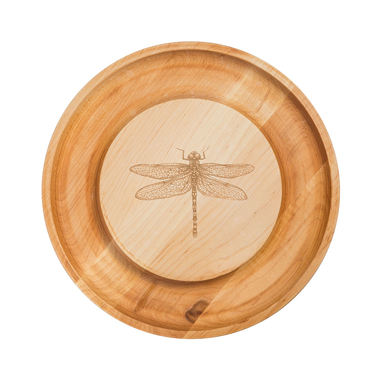 Maple Round Cheese Board-Dragonfly