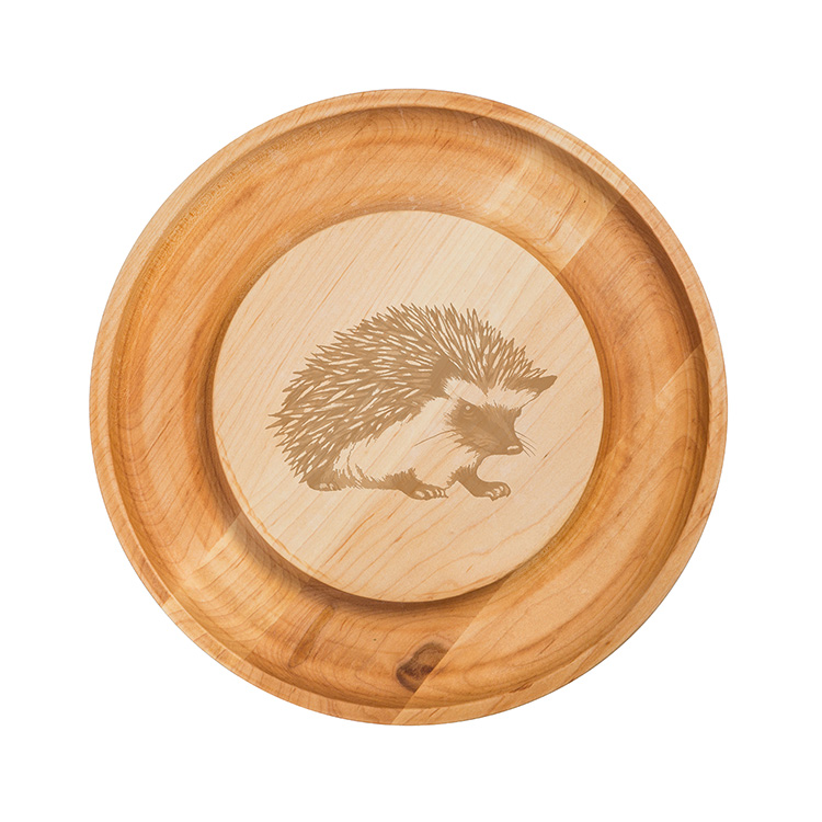 Maple Round Cheese Board-Hedgehog