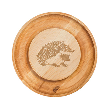 Maple Round Cheese Board-Hedgehog