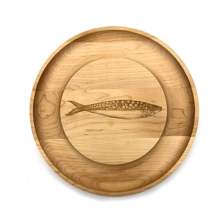 Maple Round Cheese Board-Sardine