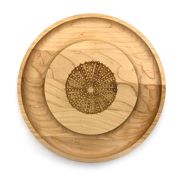 Maple Round Cheese Board-Sea Urchin