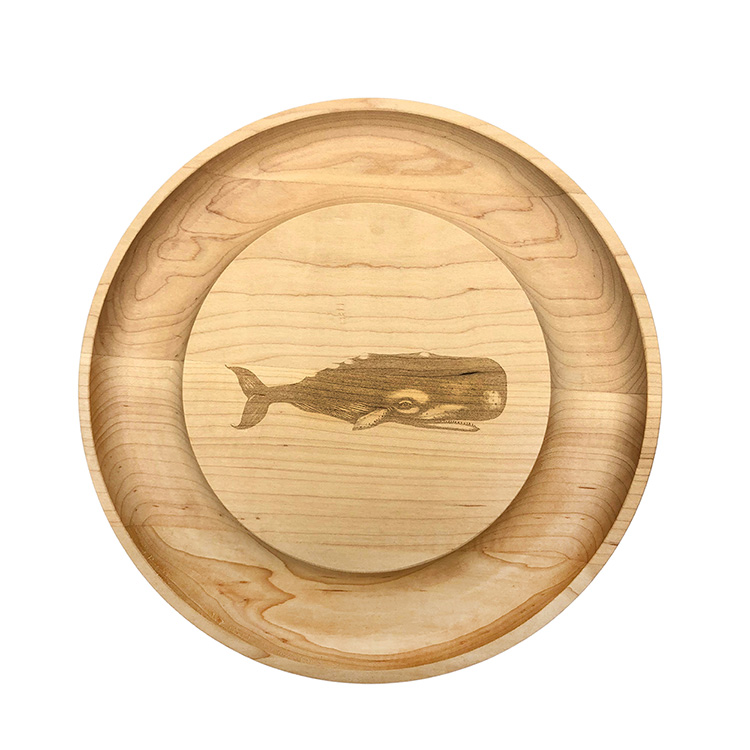 Maple Round Cheese Board-Whale