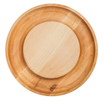 Maple Round Cheese Board with cracker groove